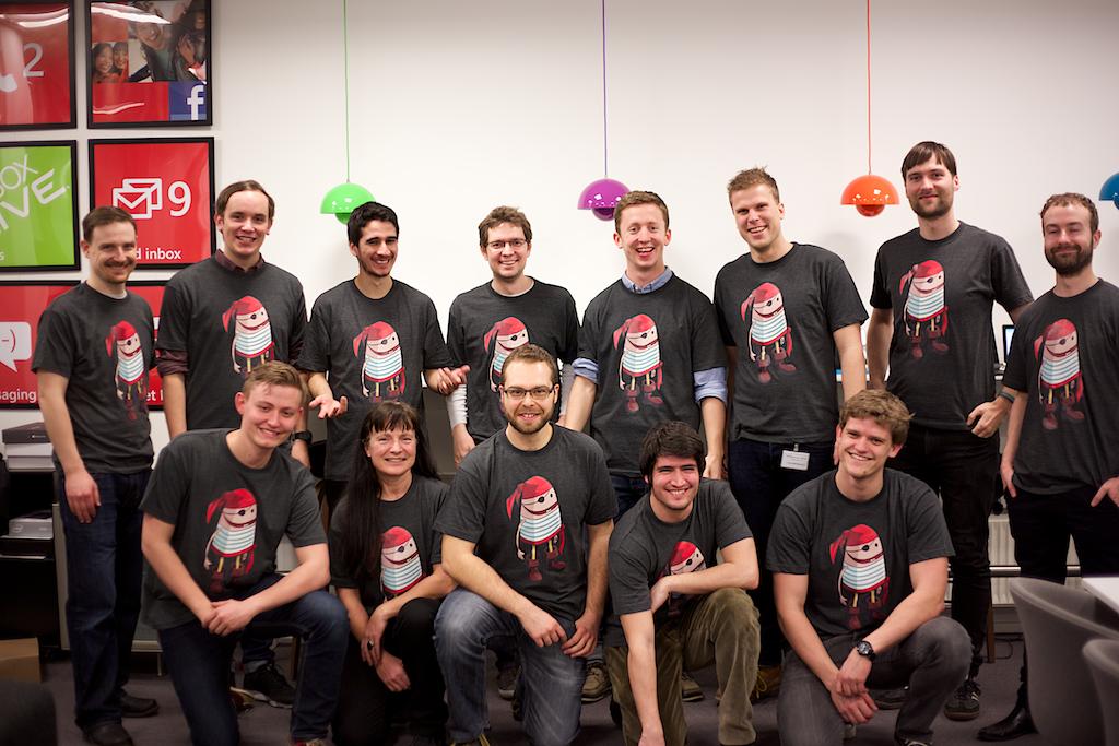 En gruppe frivillige Coding Pirates