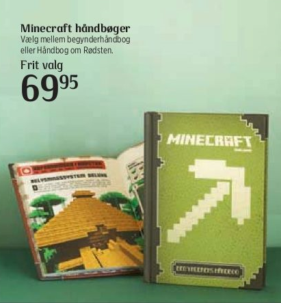 Minecraftbøger i Kvickly