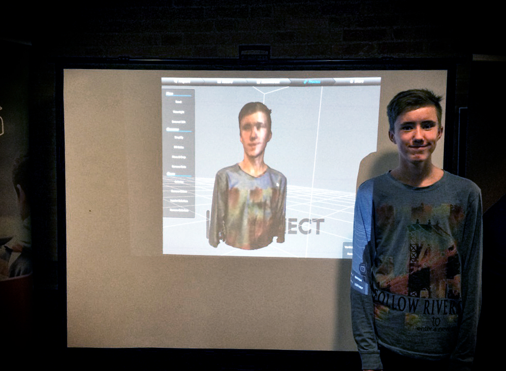 Scanning af person med Kinect