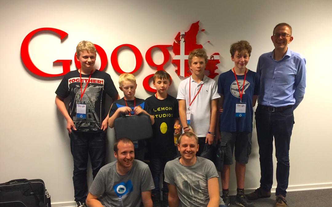 Game Jam-vindere på besøg hos Google