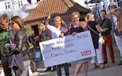 Tuborgfondet donerer 100.000 kr. til Coding Pirates