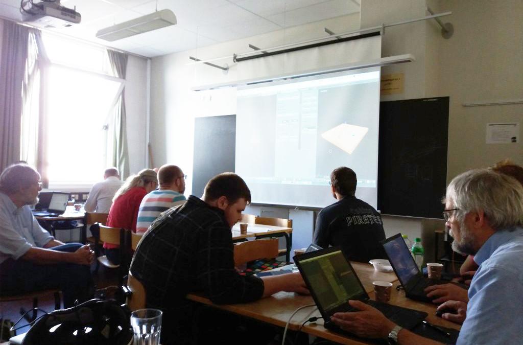 Frivillige lærer 3D-grafik