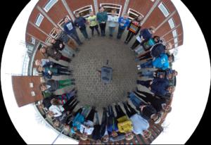 Tryk på billedet for at se vores 360 graders panorama af piraterne der deltog til Hackathon i Tårnby