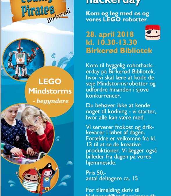 CP Birkerød inviterer til Mindstorms (begynder) hackerday 28. april