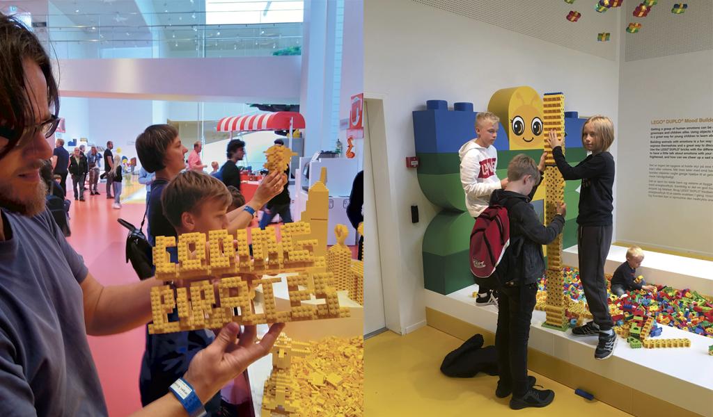 Kodepirater fra Vejle på besøg i LEGO House