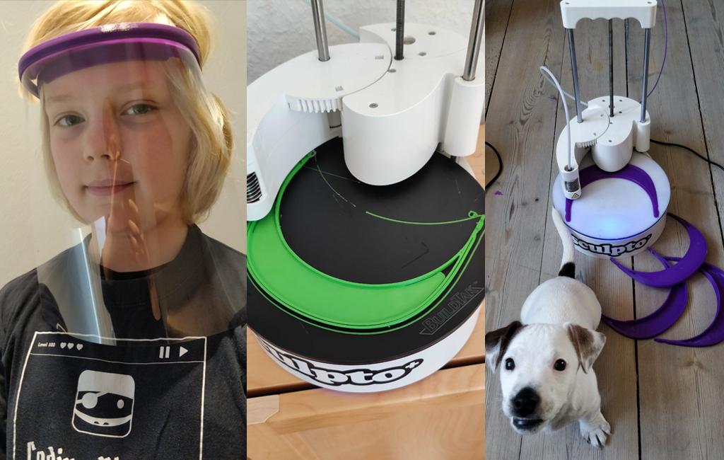 Makers mod corona: Frivillige i Coding Pirates hjælper sundhedssektoren med 3D-print